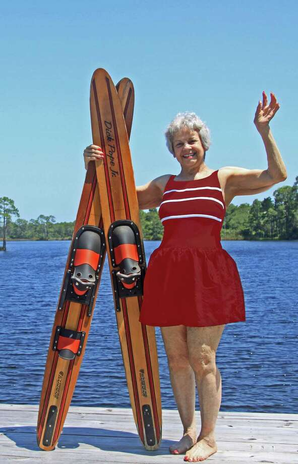 Now: In 1950, 20-year-old Betty Conley appeared on the cover of the San Antonio Express Magazine for a story claiming (to quote the cover line) that  Skiing on water is Texas  newest sports thrill.  Conley and two of her cousins, Bob Spalten and  Buzz  Mueller, were ground-breakers in the sport, performing in acrobatic ski shows and entering competitions as the  Ski Bees.  The Lake McQueeney Ski Bees, the water-skiing club they founded in 1952, is still going strong, putting on a water ski show every Thursday night during the summer. Today, at 83, she continues to enjoy the water, recently taking a spin around the lake on a stand-up paddle board. Writes her daughter-in-law Jamie Conley, she's still gorgeous, athletic, a dare-devil, full of life, and she's STILL a  ground-breaker.  Photo: Conley, Reader Submission
