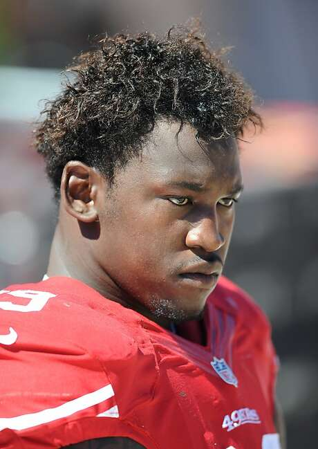 San Francisco 49ers linebacker (99) Aldon Smith on the bench during a game against the Green Bay Packers played at Candlestick Park in San Francisco on Sunday, September 8, 2013. (AP Photo/John Cordes) Photo: John Cordes, Associated Press