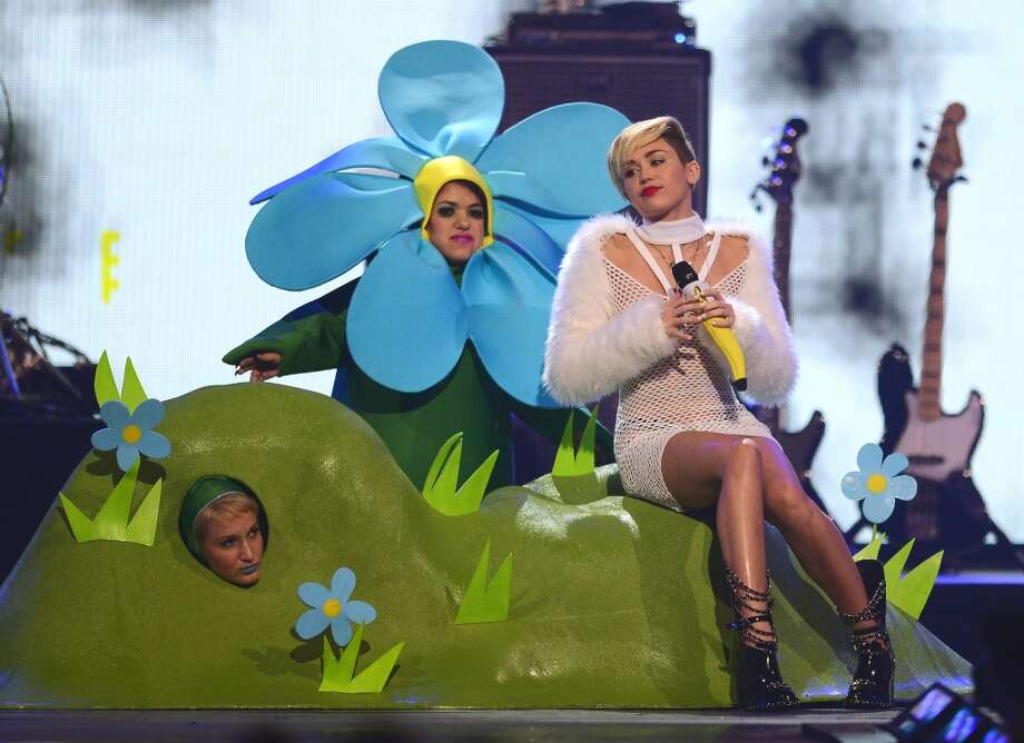 Singer Miley Cyrus performs during the iHeartRadio Music Festival at the MGM Grand Garden Arena on September 21, 2013 in Las Vegas, Nevada.  (Photo by Ethan Miller/Getty Images for Clear Channel) Photo: Ethan Miller, Getty Images For Clear Channel