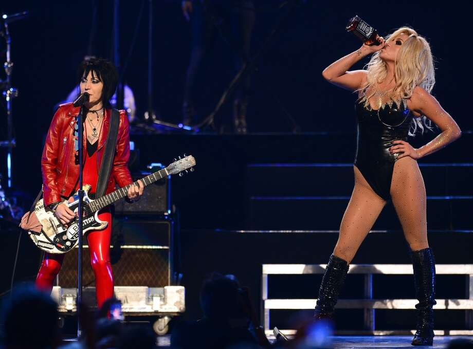 Recording artist Joan Jett (L) performs with singer Ke$ha during the iHeartRadio Music Festival at the MGM Grand Garden Arena on September 21, 2013 in Las Vegas, Nevada.  (Photo by Ethan Miller/Getty Images for Clear Channel) Photo: Ethan Miller, Getty Images For Clear Channel