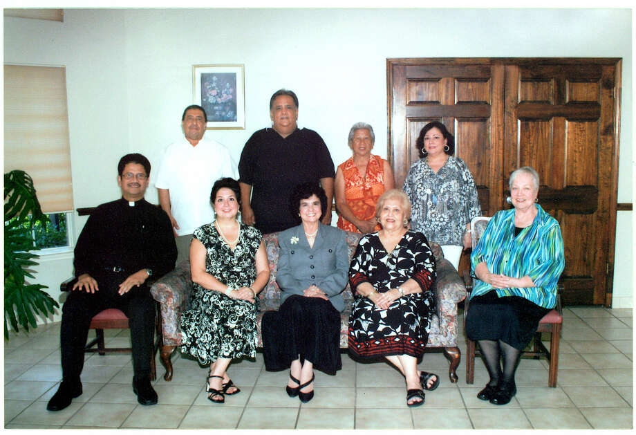 The St. James Housing Trust recently celebrated 17 years of service. Seated, left to right, are: Father Plutarco Belanggoy, board member; Annette Gallego/Hopkins, assistant treasurer; Beatrice Gallego, founder and president; Consuelo Pedroza, vice president and secretary; Suzanne Smith, agent. Standing, left to right, are Jesse Alcala, former board member; Robert Arocha, CPA, treasurer; Pola Ozuniga, board member; and Terry Hernandez, board member. Photo: Courtesy Photo