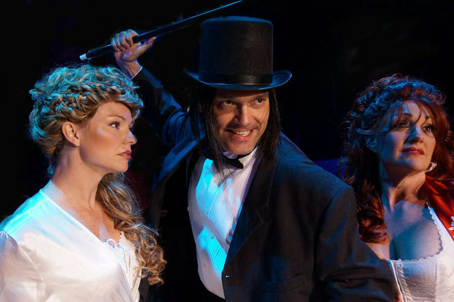 """The Cameo Theatre, 1123 E. Commerce St., is showing """"Jekyll and Hyde,"""" a musical, at 8 p.m. on Friday and Saturday and at 4 p.m. Sunday. Starring are, left to right, Carrie Carpenter, Roy Bumgarner and Corina Zars.                    For more theater listings, see page 37. Photo: Courtesy"""