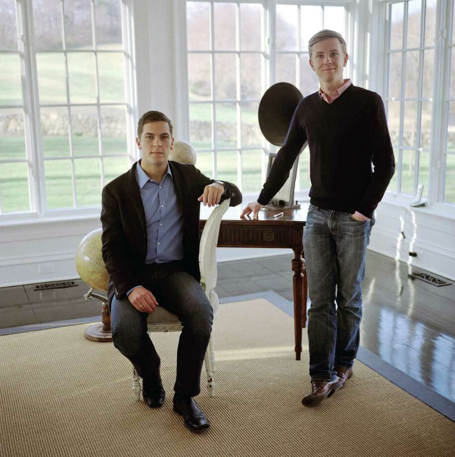 Chris Hughes, Facebook co-founder, right, and his husband Sean Eldridge at their home in Garrison, N.Y., July 10, 2013. In January, Eldridge and Hughes, purchased a $2 million home overlooking a reservoir and began laying the groundwork for Eldridge's campaign for their local congressional seat, but despite their wealth, congressional campaigns can be very personal contests. (Danny Ghitis/The New York Times) ORG XMIT: XNYT101 Photo: DANNY GHITIS / NYTNS