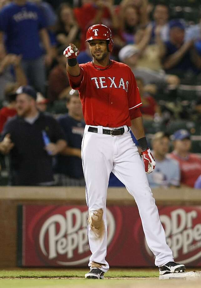 Alex Rios hit for the cycle and the Rangers started their final push for a playoff spot with a 12-0 thumping of the visiting Astros on Monday night. Photo: Khampha Bouaphanh, McClatchy-Tribune News Service