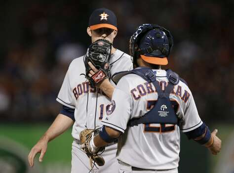 Sept. 23: Rangers 12, Astros 0  Jordan Lyles struggled as Houston lost its 10th consecutive contest.  Record: 51-106. Photo: Tony Gutierrez, Associated Press