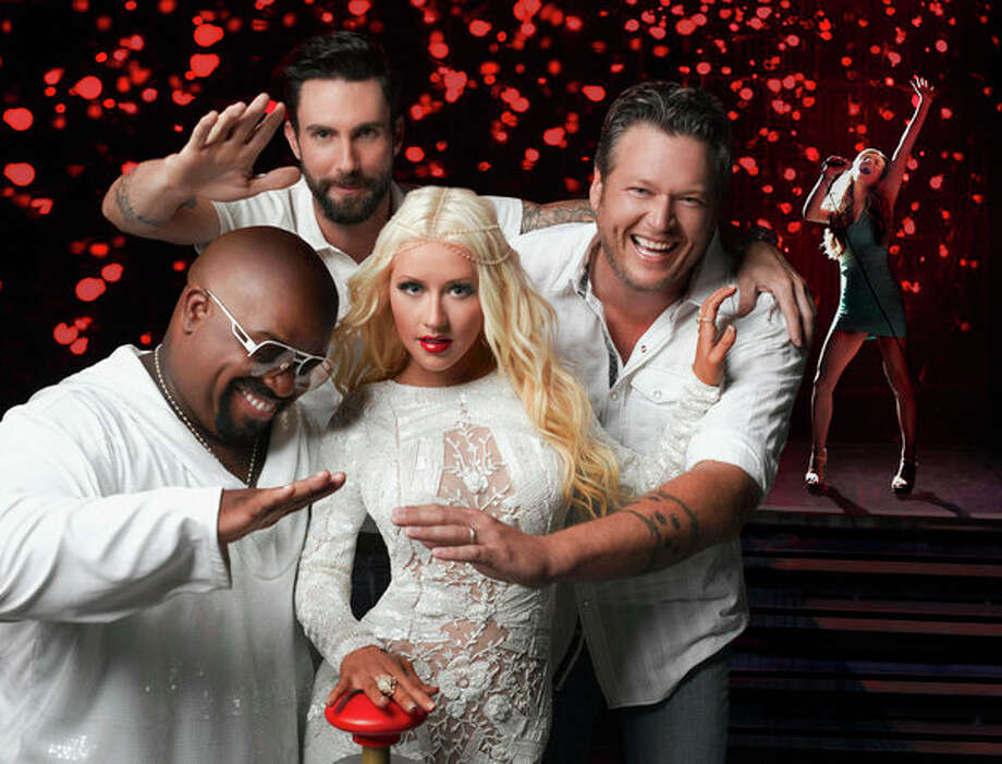 THE VOICE -- Season: 5 -- Pictured: (l-r) CeeLo Green, Adam Levine, Christina Aguilera, Blake Shelton -- (Photo by: Mark Seliger/NBC) Photo: NBC, Mark Seliger/NBC / 2013 NBCUniversal Media, LLC