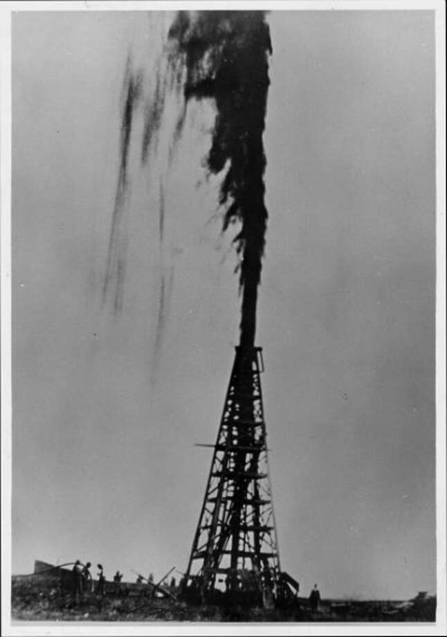 The iconic Lucas Gusher at Spindletop. Photo: Frank J. Trost