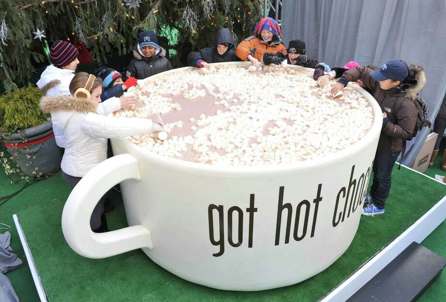 There's nothing like sipping on some hot chocolate on a crisp, fall day. We'd love a cup as big as the one in the picture, but we'll settle for a normal-sized mug. Marshmallows are a must.(AP Photo/American Dairy Association, Diane Bondareff) Photo: Diane Bondareff, AP IMAGES / AMERICAN DAIRY ASSOC / American Dairy Association