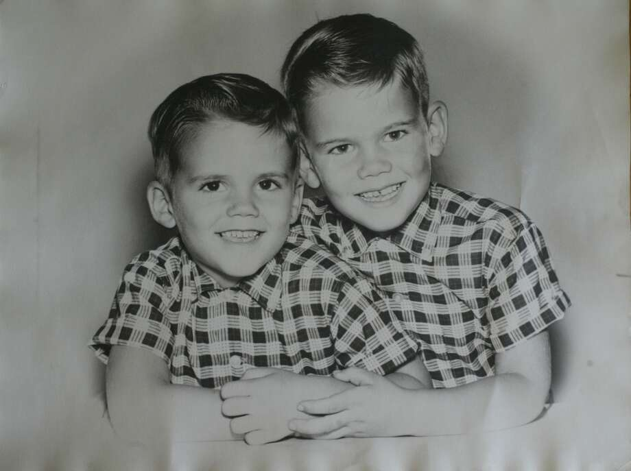 Little Dennis Eckersley (left) and brother Wally, looking like the Cleaver boys. Photo: LEA SUZUKI, SFC