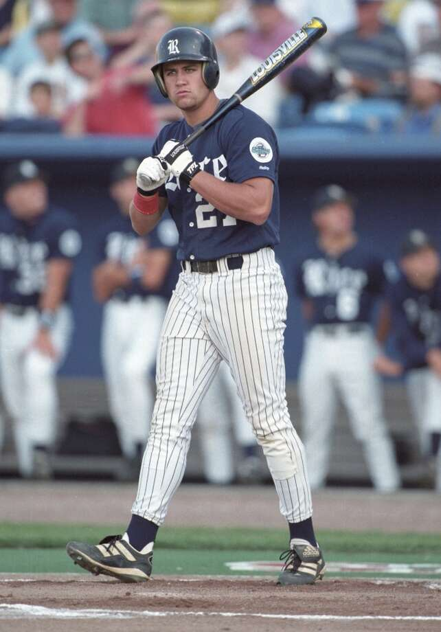 College During his college days at Rice, Berkman was named the 1997 National College Player of the Year and helped lead the Owls to their first College World Series appearance in 1997. Photo: Smiley N. Pool, Houston Chronicle