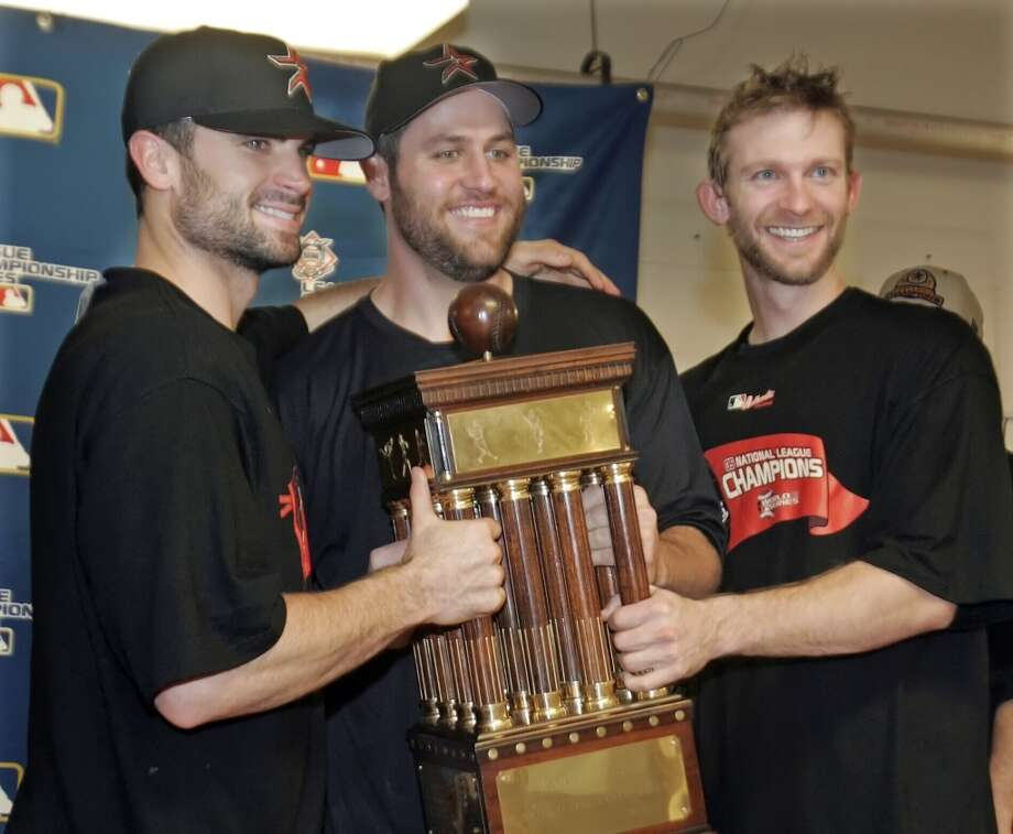 2005 seasonBerkman helps the Astros win their first-ever pennant. The team is swept by the Chicago White Sox in the World Series. Photo: Mark Humphrey, Associated Press