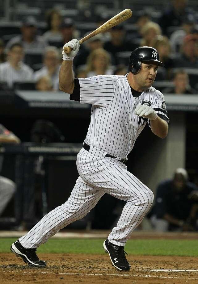 2010 seasonBerkman struggles in his short stint in Yankee pinstripes. Photo: Al Bello, Getty Images