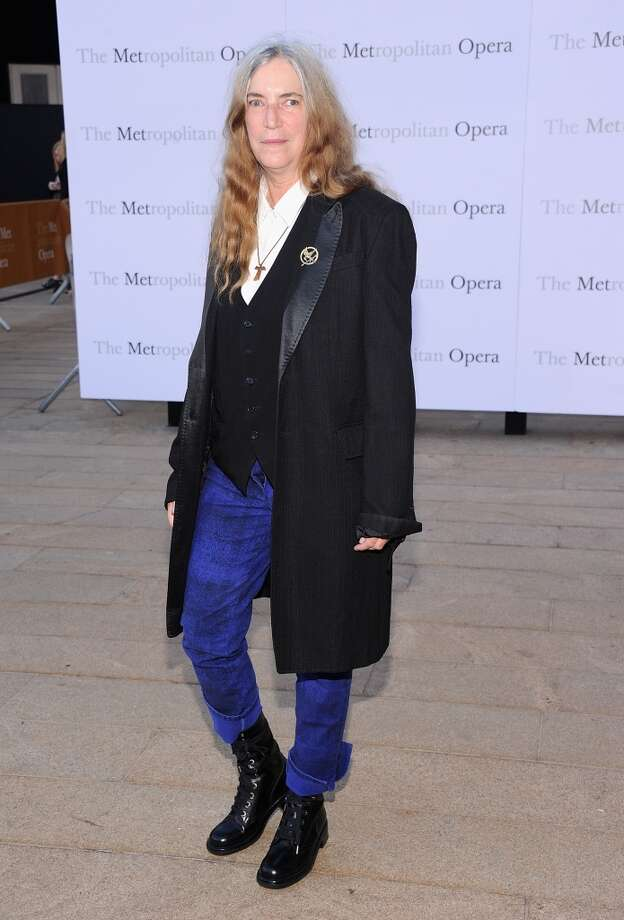 "Patti Smith attends the Metropolitan Opera Season Opening Production Of ""Eugene Onegin"" at The Metropolitan Opera House on September 23, 2013 in New York City.  (Photo by Jamie McCarthy/Getty Images) Photo: Jamie McCarthy, Getty Images"