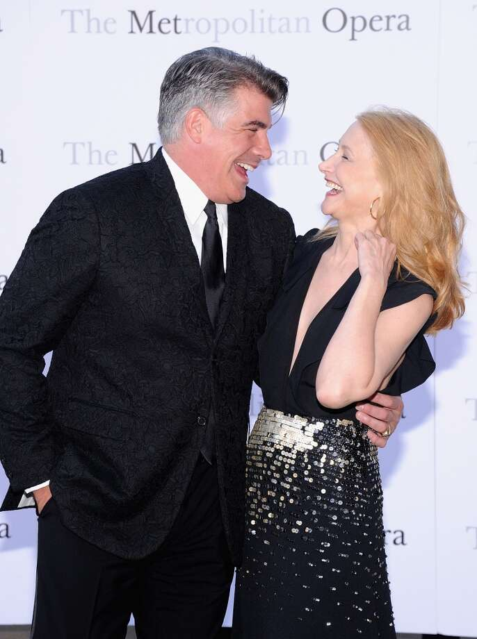 "Bryan Batt and Patricia Clarkson attend the Metropolitan Opera Season Opening Production Of ""Eugene Onegin"" at The Metropolitan Opera House on September 23, 2013 in New York City.  (Photo by Jamie McCarthy/Getty Images) Photo: Jamie McCarthy, Getty Images"