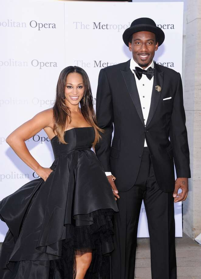 "Alexis Stoudemire and Amar'e Stoudemire attend the Metropolitan Opera Season Opening Production Of ""Eugene Onegin"" at The Metropolitan Opera House on September 23, 2013 in New York City.  (Photo by Jamie McCarthy/Getty Images) Photo: Jamie McCarthy, Getty Images"