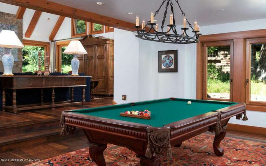 Billiards with a view. All photos via Prugh Real Estate, Jackson Hole, WY Photo: Http://www.prughrealestate.com/properties/6895-n-bowman-rd-teton-village-wy-83025