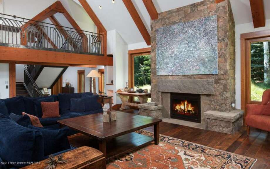 Inside the main home. All photos via Prugh Real Estate, Jackson Hole, WY Photo: Http://www.prughrealestate.com/properties/6895-n-bowman-rd-teton-village-wy-83025