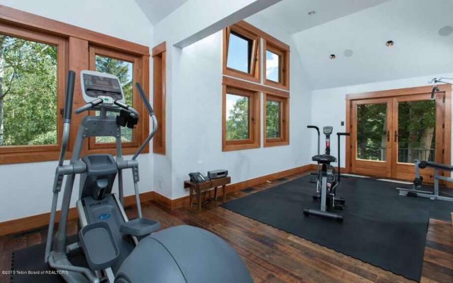 Staying fit for Jackson Hole ski season. All photos via Prugh Real Estate, Jackson Hole, WY Photo: Http://www.prughrealestate.com/properties/6895-n-bowman-rd-teton-village-wy-83025