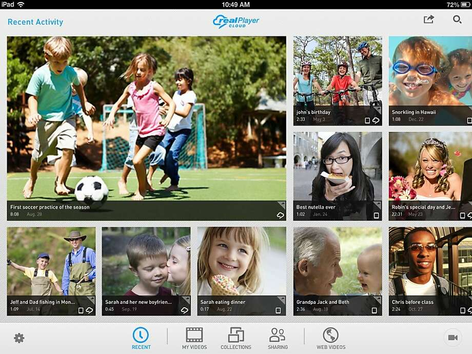 RealNetworks' RealPlayer Cloud service lets users share, stream and watch video without having to worry about whether it's compatible with their device. Photo: RealNetworks