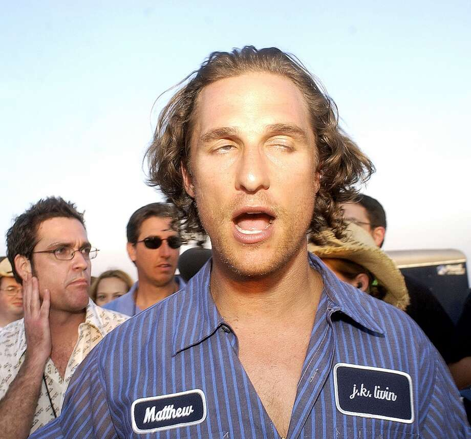 McConaughey was looking very Wooderson-esque at the 10th anniversary screening party of `Dazed and Confused' in Austin. The party was held at the same location where the moon tower keg party scene was filmed. Photo: Matt Archer, Getty Images