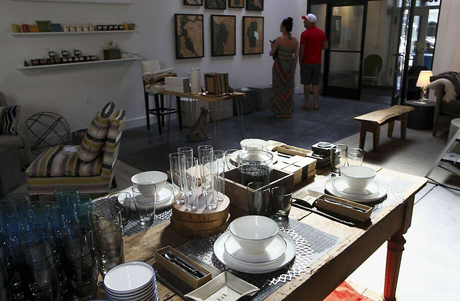 A table filled with serveware at the new Maker & Moss home design store that fourth-generation San Franciscan Matt Bissinger opened in the Hayes Valley neighborhood Photo: Michael Macor, The Chronicle
