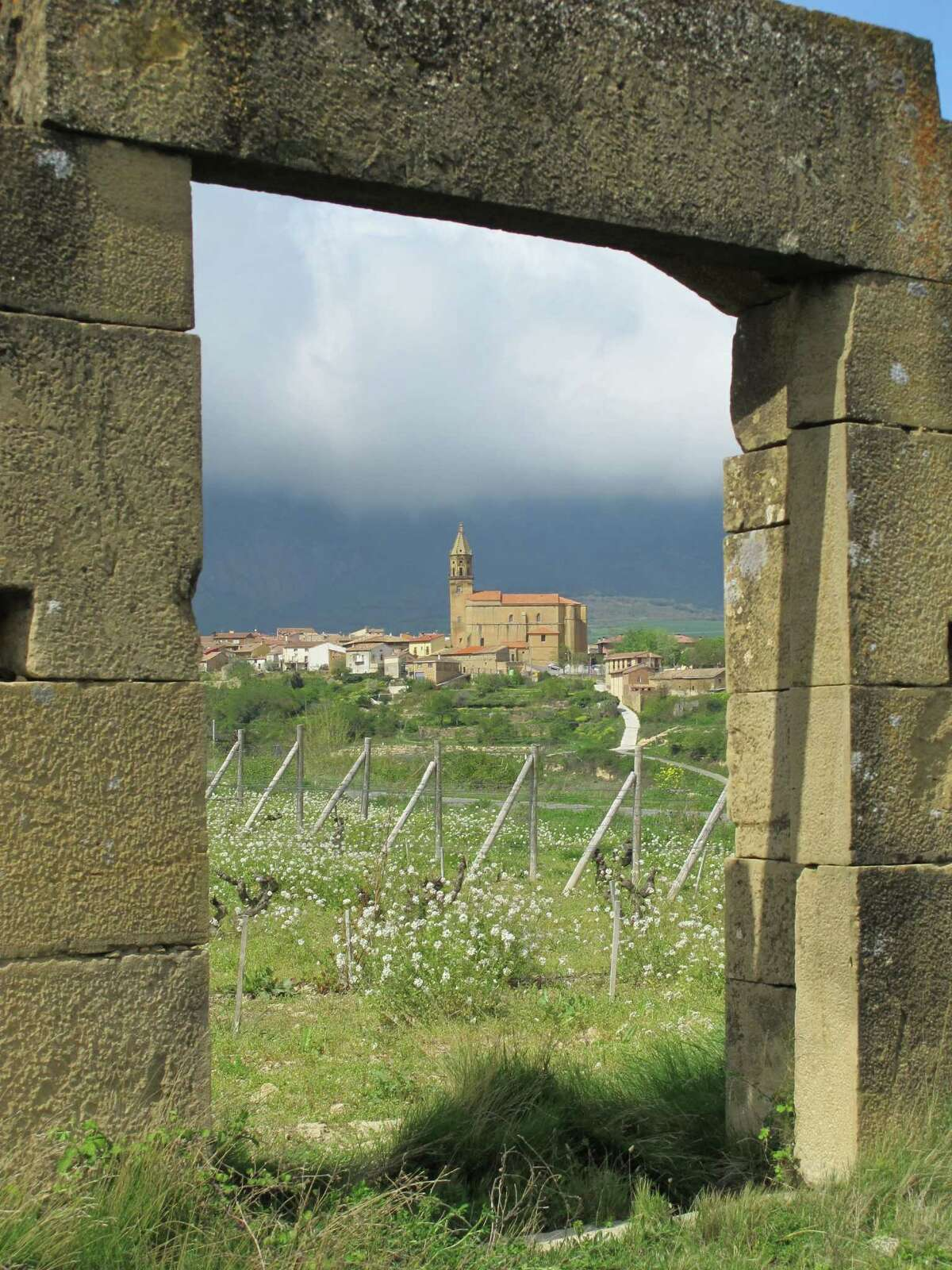 Traveling in Spain, Gribou parked his rental car on the side of the road and shot this view of a church in the wine region of Rioja.