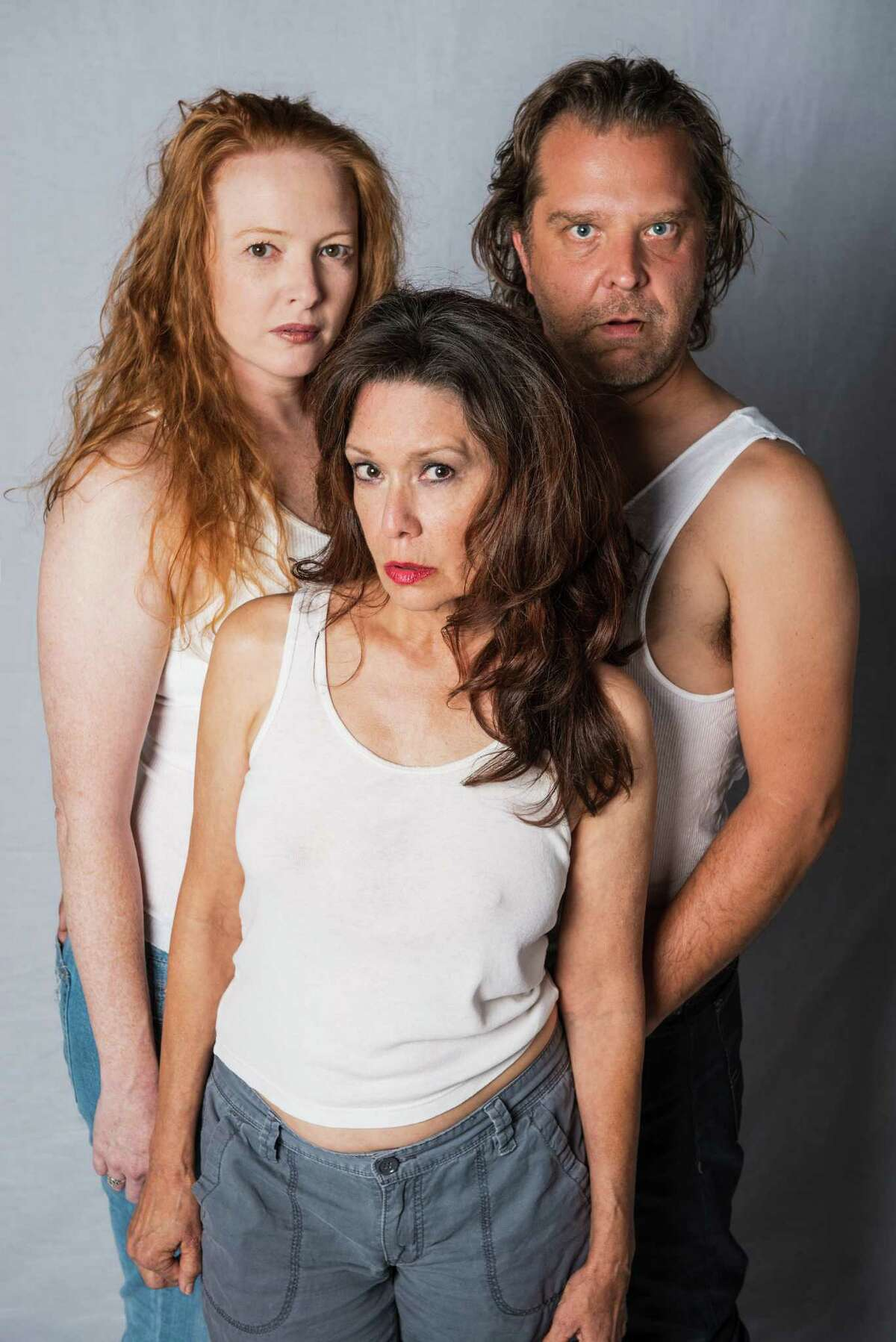 Mindy Fuller (clockwise from left), Rick Frederick and Sam Carter Gilliam star in Klose/Seale Productions'