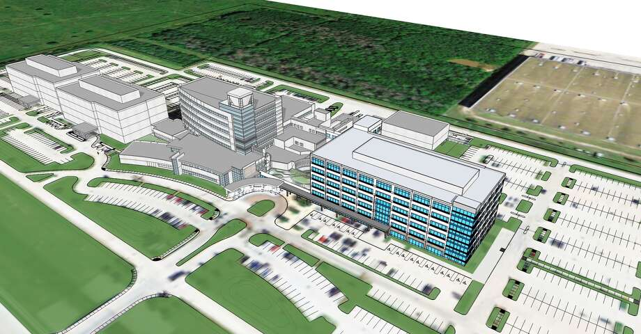An architectural rendering shows the project at the Memorial Hermann Katy Hospital campus.