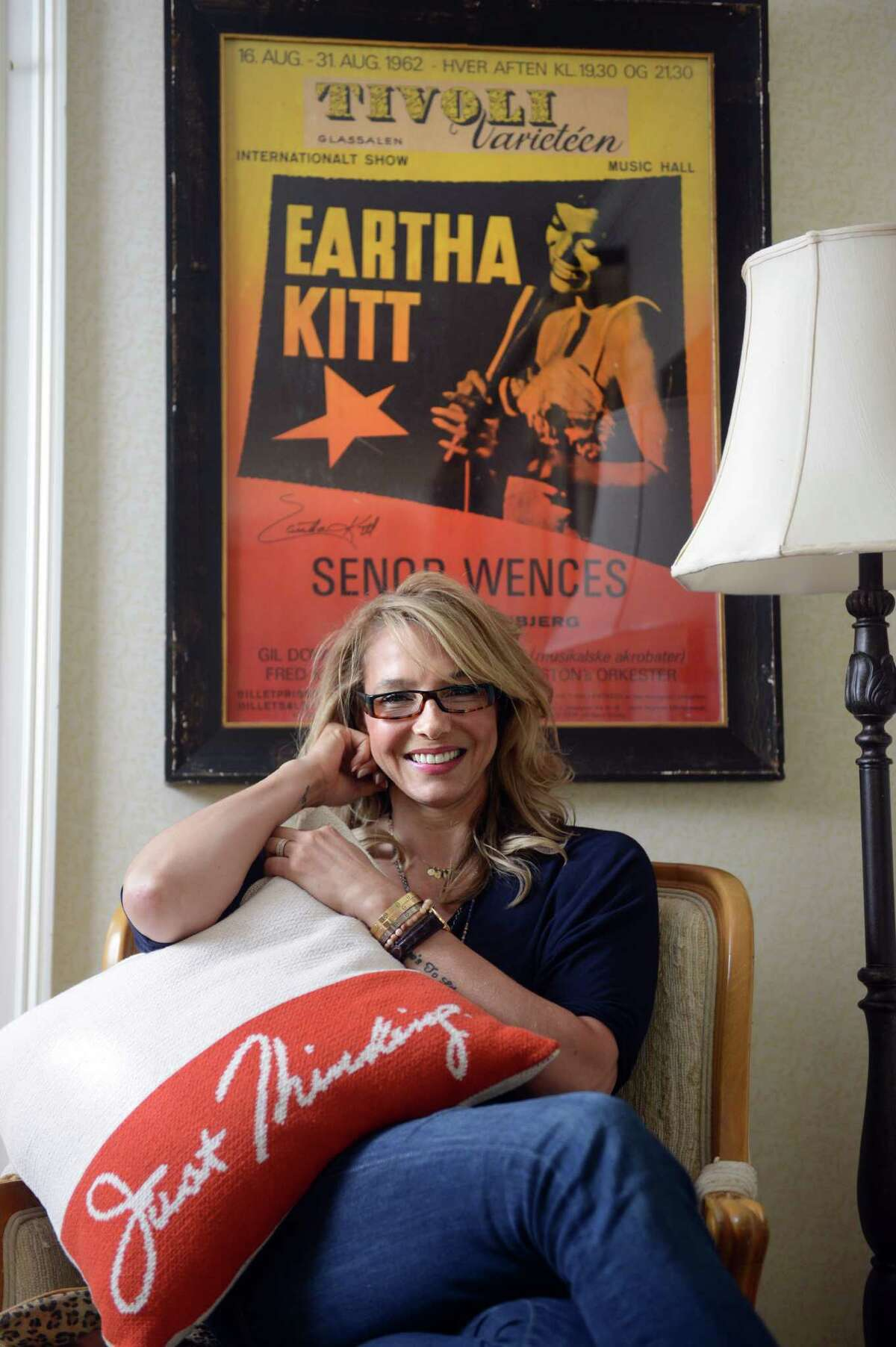 Kitt Shapiro, daughter of entertainer Eartha Kitt, has launched a line of eco-friendly home products, called Simply Eartha, which feature quotes from her mother.