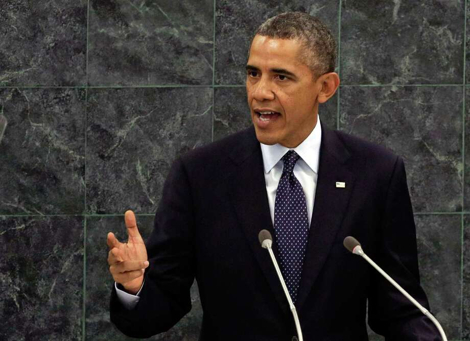 "President Barack Obama, addressing the 68th session of the U.N. General Assembly, said Tuesday that the U.S. seeks ""a different relationship"" with Iran. Photo: Richard Drew, STF / AP"
