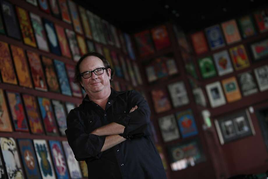 Michael Bailey manages the Fillmore, where the walls and halls of the Poster Room display decades of rock history. Photo: Lea Suzuki, The Chronicle