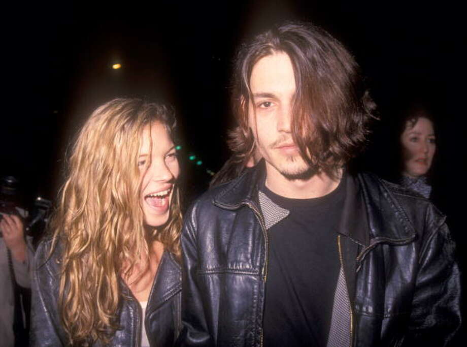 Kate Moss has also made headlines over the years for her boyfriends, including mid-'90s beau Johnny Depp. Photo: Barry King, WireImage / WireImage