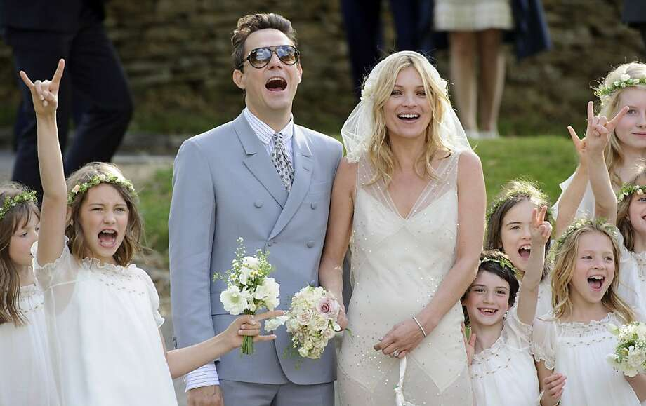 After Kate Moss dumped Pete Doherty, she married British rocker Jamie Hince, guitarist of The Kills. The couple was married in Southrop, England, on July 1, 2011. Photo: Jonathan Short, AP / Jonathan Short, AP