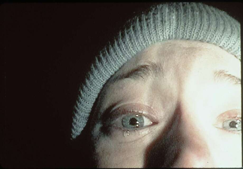 """7. """"The Blair Witch Project""""(1999):   You never see the villain in this movie, but the woods at night, the faraway screams, and the video footage that heightened reality were scary enough. Photo: Getty Images / Getty Images North America"""