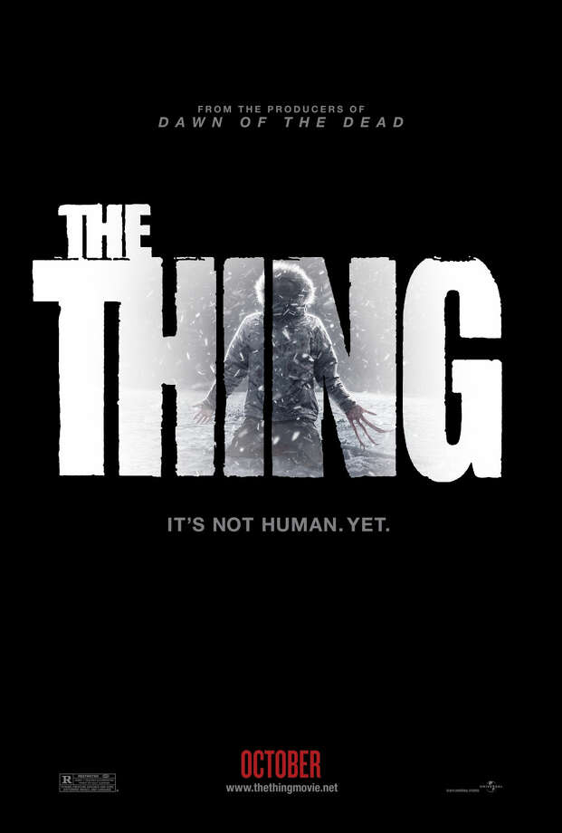 "11. ""The Thing""(1982): Roger Ebert called this sci-fi horror flick a ""great barf-bag movie"" for its grotesque make-up and special effects. Set in a remote Antarctic research station, it was an atmospheric exercise in paranoia and isolation. ""Somebody in this camp ain't what he appears to be,"" went the tagline. 