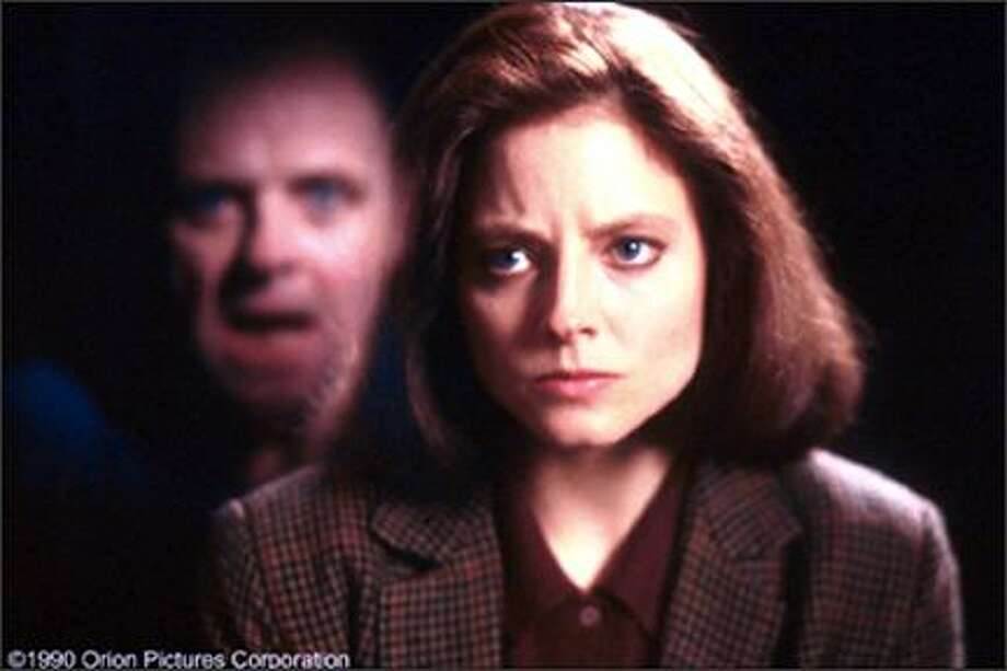"""17. """"Silence of the Lambs""""(1991):   If you weren't whimpering when the basement lights went out on Jodie Foster, you didn't have a pulse. Great acting and blend of crime drama and horror make this a classic. Photo: Orion Pictures"""