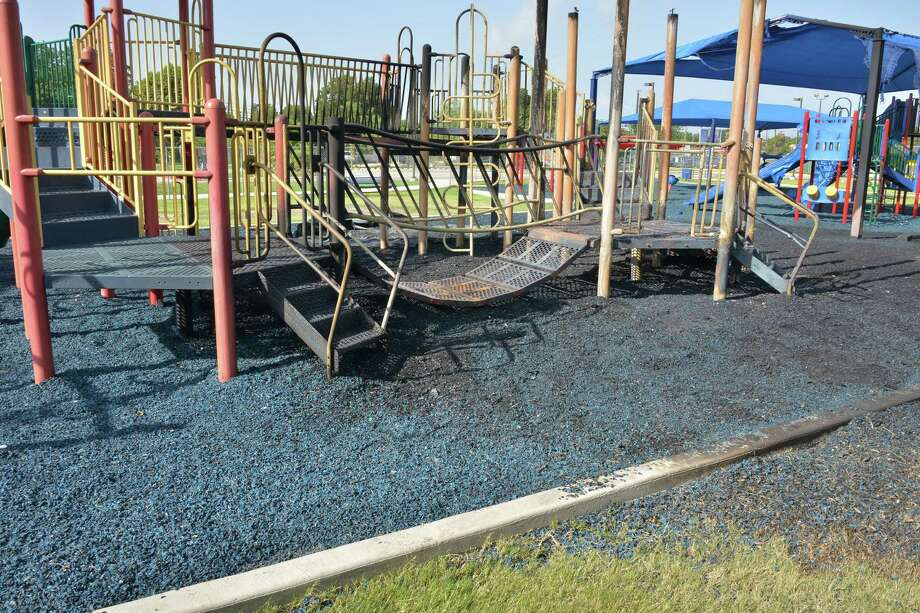 Adams Elementary's playground was burned down during summer, but its story has garnered it as a finalist in Kidd Kraddick in the Morning program's national contest driven by online voting where it could win an extreme makeover. Voting ends at noon Friday. Photo: Courtesy