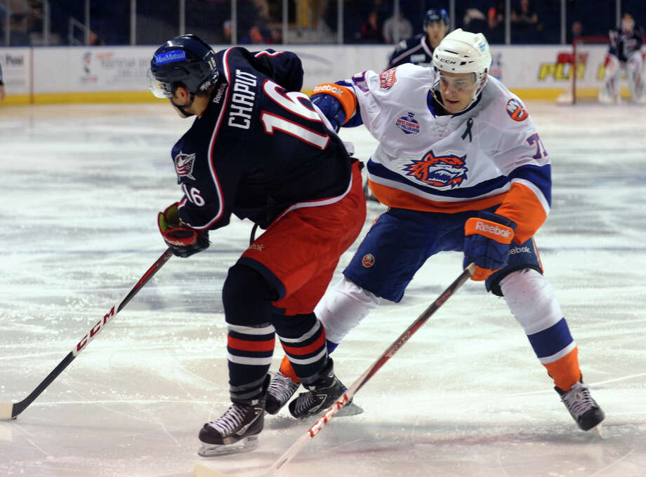 Sound Tigers #77 Kirill Kabanov, during hockey action against Springfield at the Webster Bank Arena in Bridgeport, Conn. on Tuesday February 12, 2013. Photo: Christian Abraham / Connecticut Post