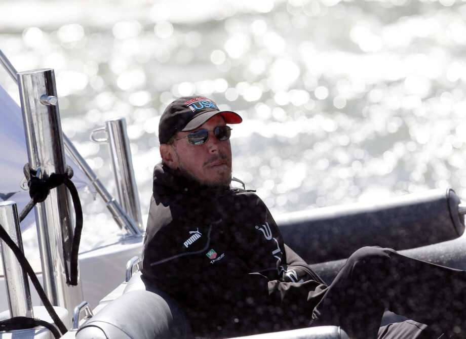 Oracle CEO Larry Ellison sits in his chase boat after Oracle Team USA defeated Emirates Team New Zealand in Race 17 of the America's Cup Finals on Tuesday, September 24, 2013 in San Francisco, Calif. Photo: Beck Diefenbach, Special To The Chronicle