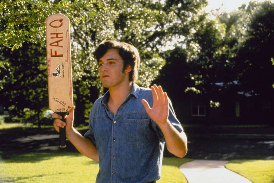 """Ben Affleck played paddling hazer Fred O'Bannion. """"Y'all ready to bust some (expletive)? A few years after `Dazed,' Affleck won an Oscar for `Good Will Hunting.' Photo: Gramercy Pictures"""