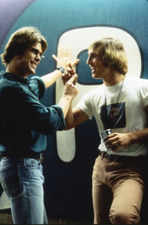 `All right, all right, all right.'   Matthew McConaughey's high-school-hanger-on David Wooderson is undoubtedly the most quoted `Dazed and Confused' character.A few other gems:  `It'd be a lot cooler if you did.' `That's what I love about these high school girls, man. I get older, they stay the same age.'The film launched the Texan's career. Photo: Dazed And Confused., Gramercy Pictures