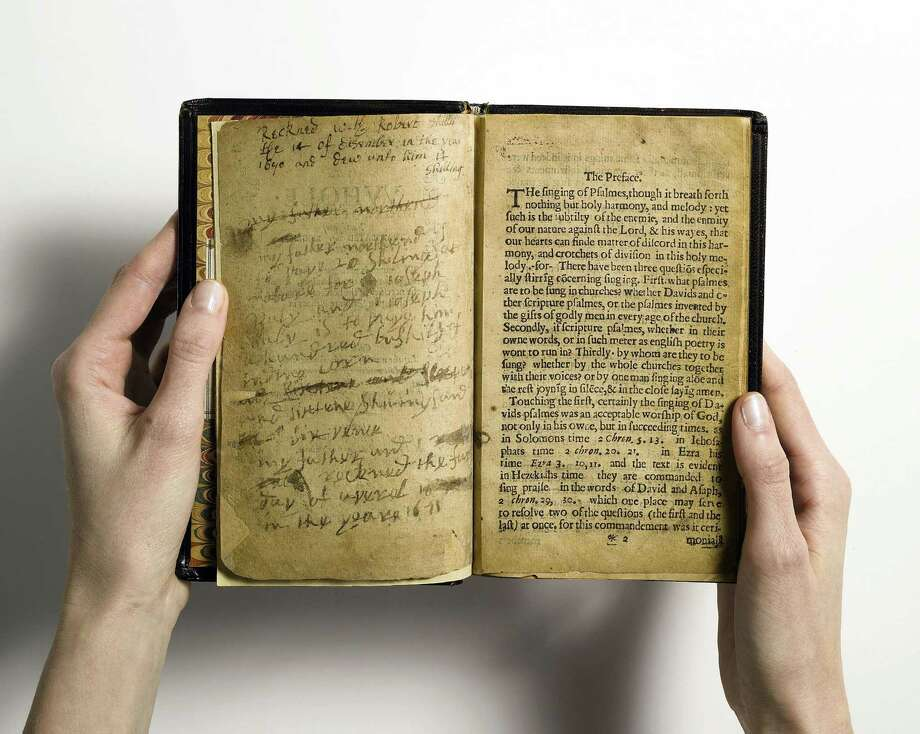 The first book printed in colonial America, a 17th-century Puritan hymnal, may be the most valuable volume ever placed on the auction block. Photo: Xx