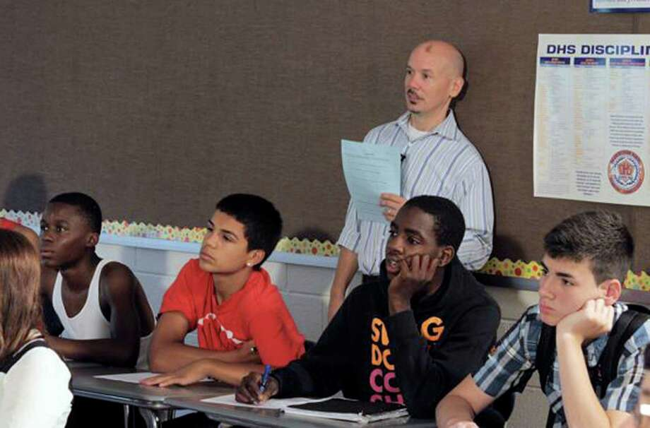 Educator Tim Salem taught some Danbury middle school students last summer as part of his research on a curriculum and film in development that teaches middle and high school kids how to be reflective and empathetic. Photo: Contributed Photo / The News-Times Contributed