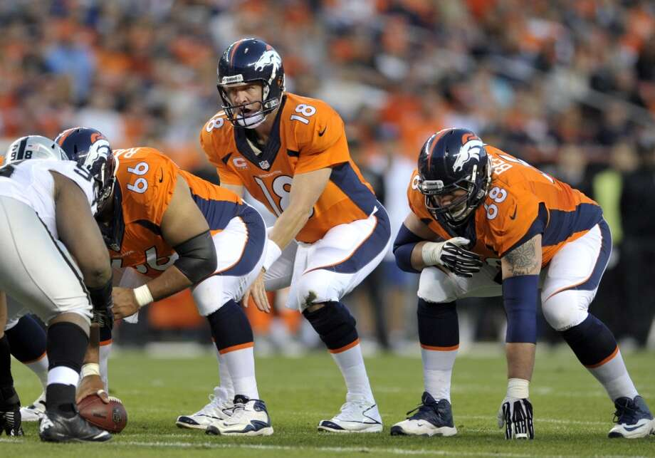 1. Broncos (3-0) Last week: 1  Peyton Manning is the first quarterback in NFL history to throw 12 touchdown passes in the first three games. He has no interceptions. Photo: Jack Dempsey, Associated Press
