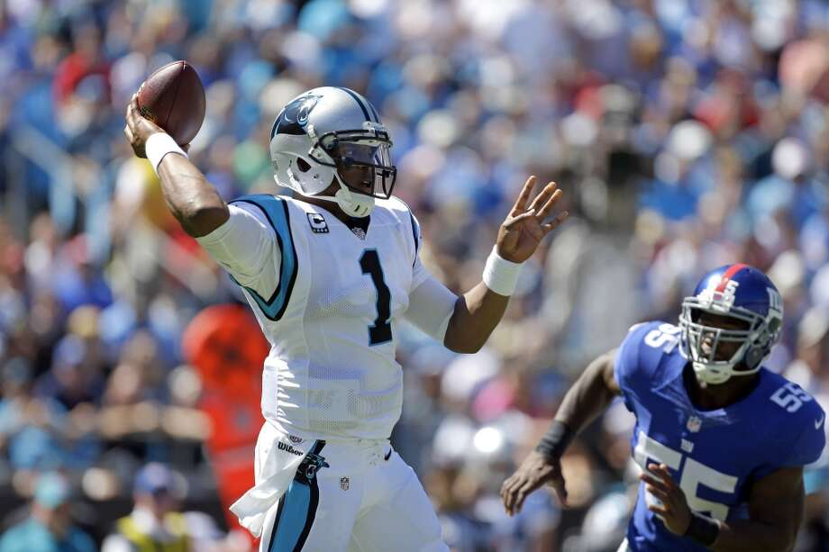 24. Panthers (1-2) Last week: 27  The Panthers are last in passing with 170 yards a game. They average 151 rushing. In their 38-0 victory over the Giants, they allowed 150 yards. Photo: Bob-leverone, Associated Press