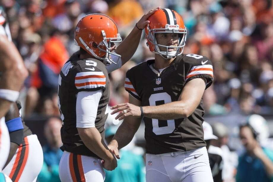 26. Browns (1-2) Last week: 31  Spencer Lanning is the first player since the Eagles' Sam Baker in 1968 to have a punt, extra point and touchdown pass in a game. Photo: Jason-miller, Getty Images