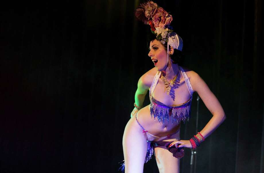 Burlesque artist Fraeulein Frauke of Sweden performs during the Odd Night, the second show of the first international Berlin Burlesque Festival in Berlin, Germany, Friday, Sept. 20, 2013. The four-day festival including three different evening shows and different workshops hosts some 36 international burlesque artists. Photo: AP