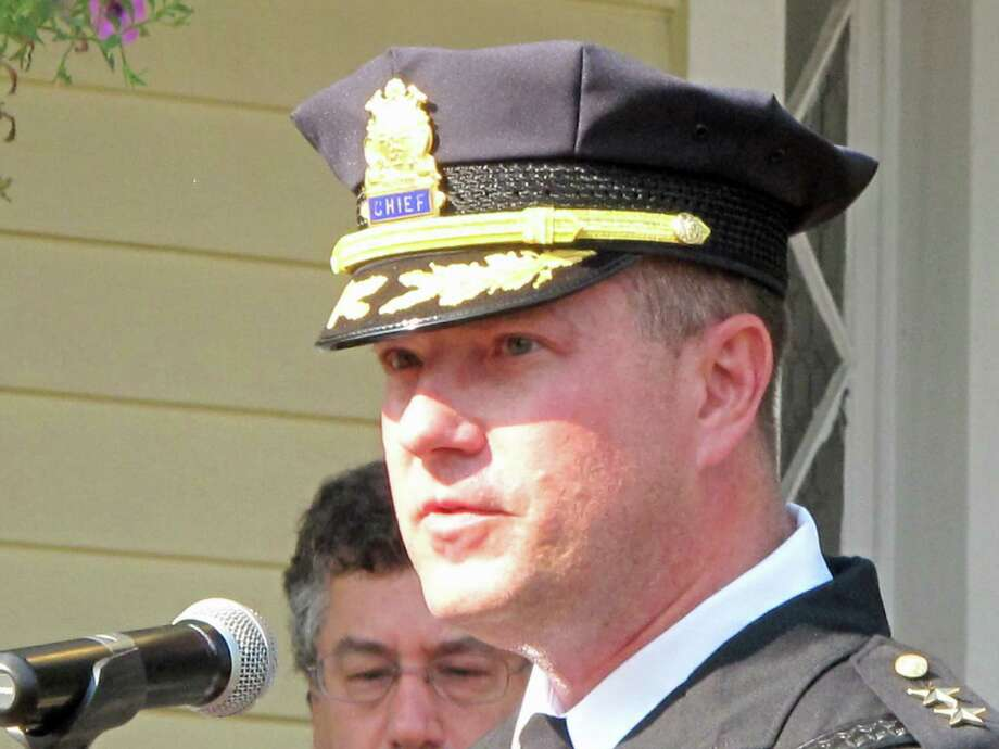 Leon Krolikowski was announced as the new police chief on Tursday, Sept. 19. Krolikowski was the interim chief and is a 24 year veteran of the New Canaan force. Photo: Tyler Woods