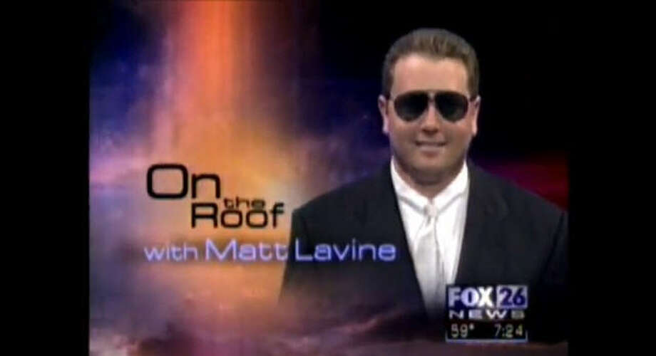 """Weatherman Matt Levine joined KRIV FOX 26 in March 1990 and spent 17  years with the crew before departing in 2007. What's he up to now? He went on to form a local movie production company and is the  intergalactic space ranger protagonist in the """"Matt Mercury"""" film  series. (photo via YouTube) Photo: YouTube"""