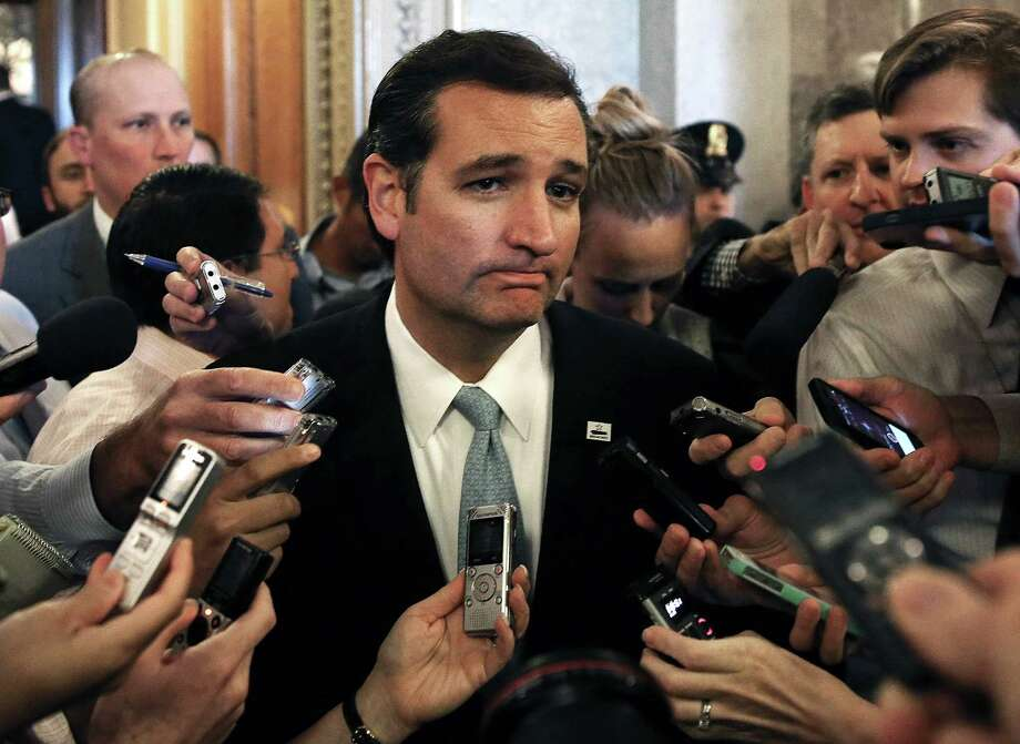 Sen. Ted Cruz (R-TX) speaks to reporters after he spoke on the Senate floor for more than 21 hours September 25, 2013 on Capitol Hill in Washington, DC. Sen. Cruz ended his marathon speech against the Obamacare at noon on Wednesday. Photo: Mark Wilson, Getty Images / 2013 Getty Images